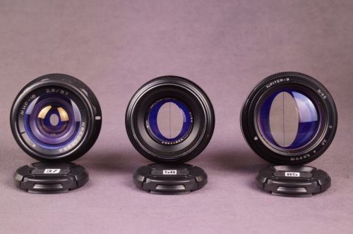 37mm 58mm 85mm Iron Glass anamorphic flare lens kit